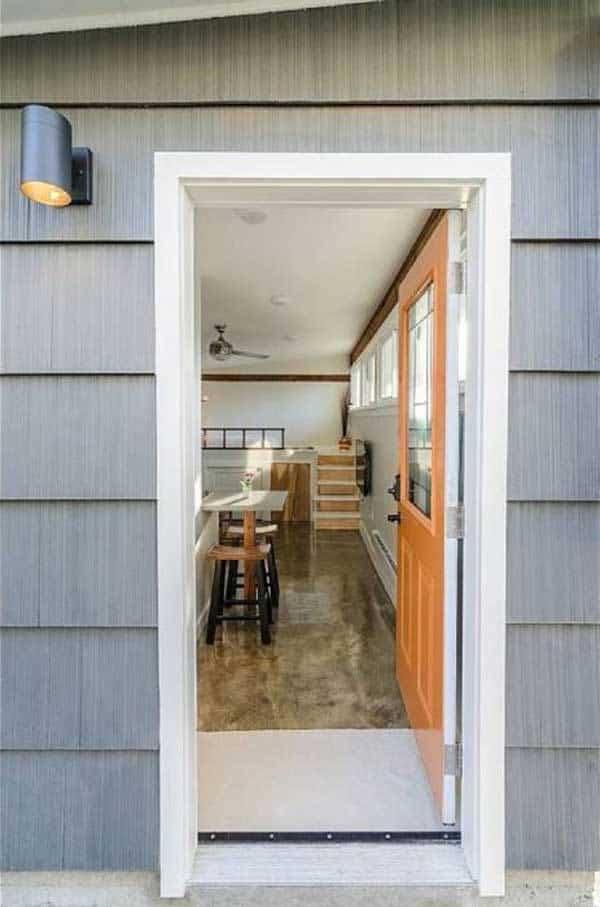 casa para invitados con un diseño moderno