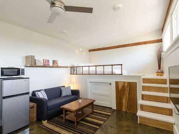 casa para invitados - dormitorio elevado