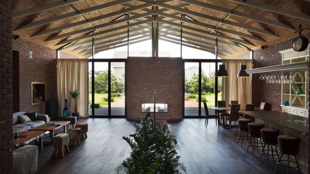 casa simétrica en rostov - zona social