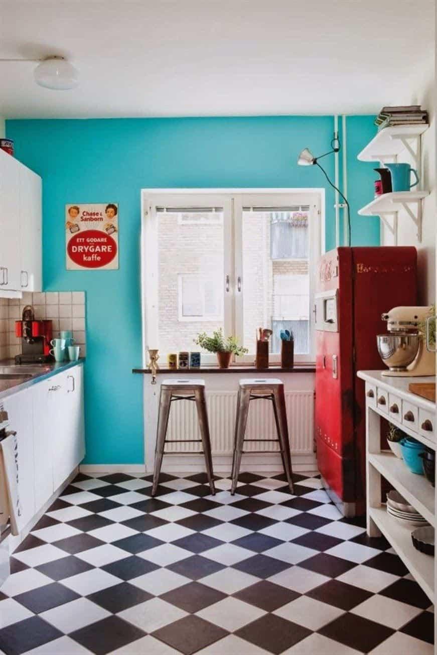 12 ideas para dise ar una cocina retro arquitectura ideal for Cocina ideal