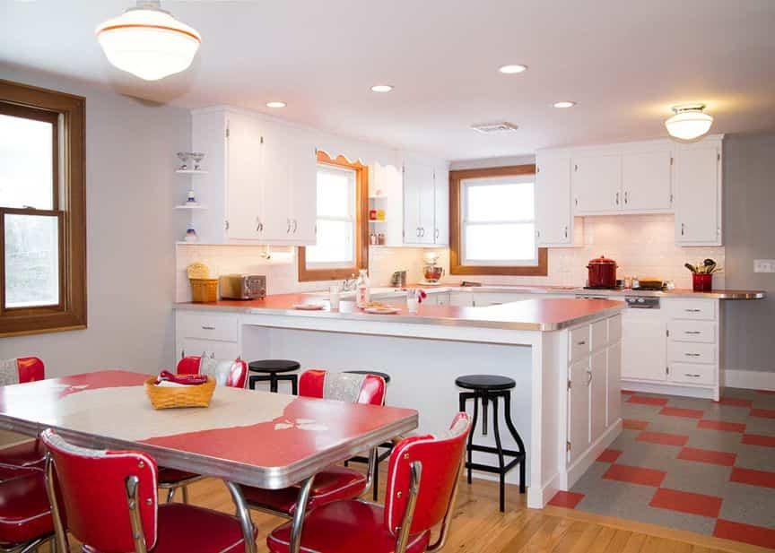 cocina retro 3 - uso de color rojo