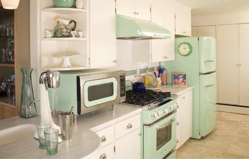 cocina retro 9 - color menta