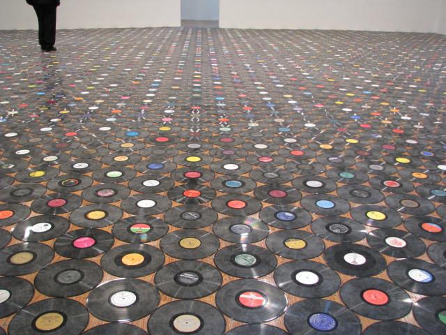 diseñar un suelo original 3 - cds reciclados