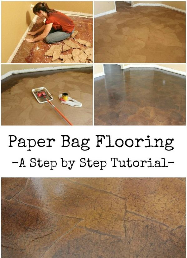 10 ideas de bricolaje para dise ar un suelo original - Papel para suelo ...