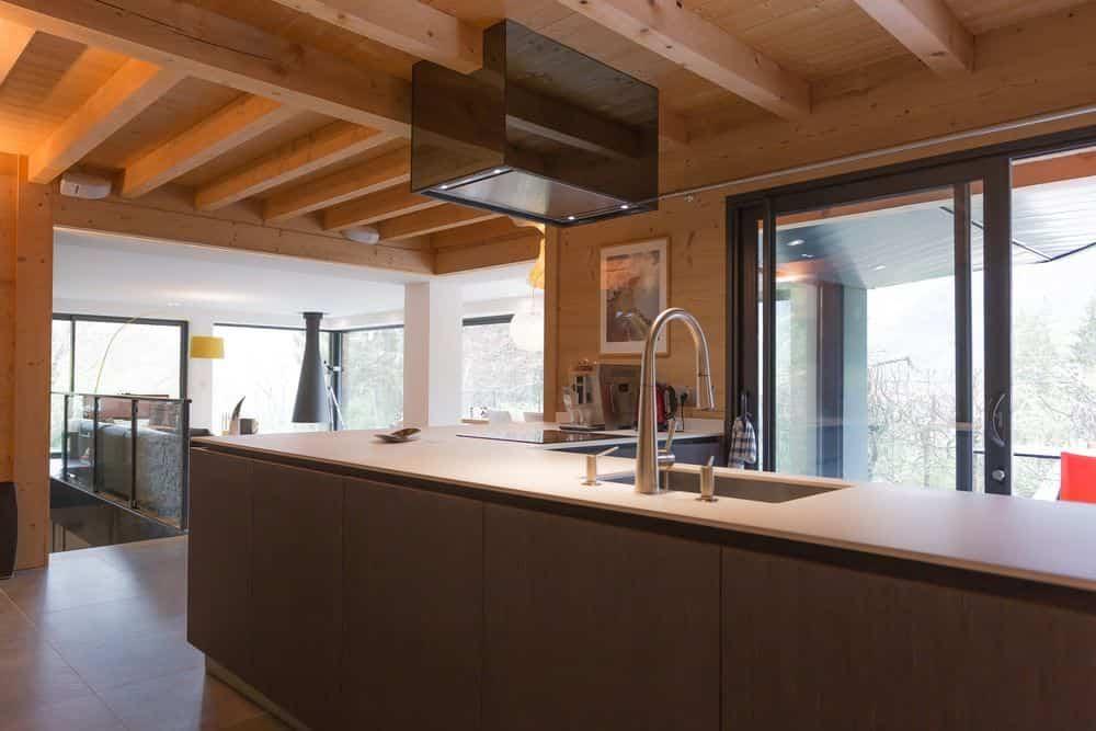 segunda vivienda chalet soleya - decoración interna de madera
