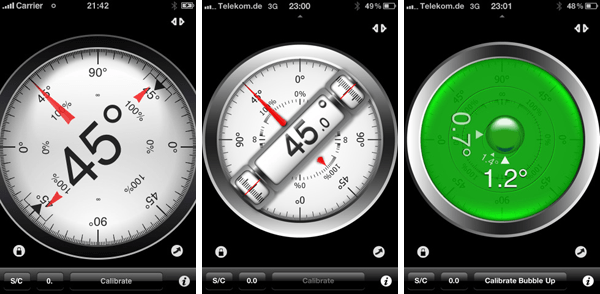 aplicaciones moviles - clinometer