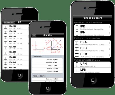 aplicaciones moviles - perfiles de acero