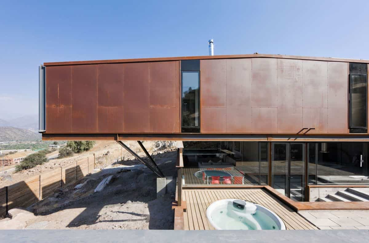 casa oruga situada cerca de los Andes