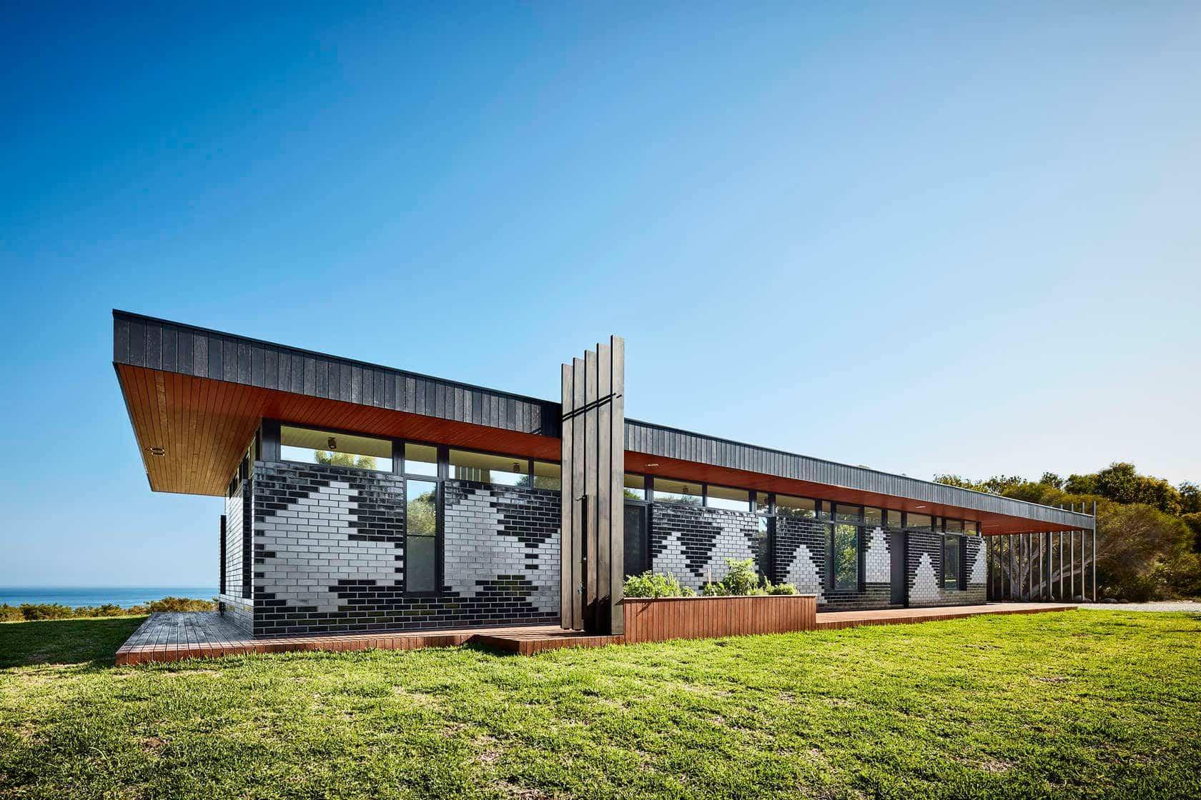 casa moderna en Australia inspirada en las aves