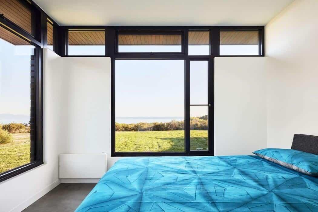 casa moderna en Australia - dormitorios sencillos
