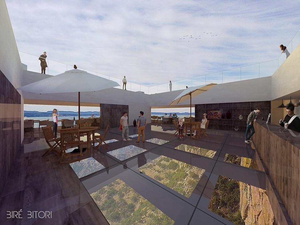 restaurante cañón del cobre - dos zonas diferenciadas en el restaurante