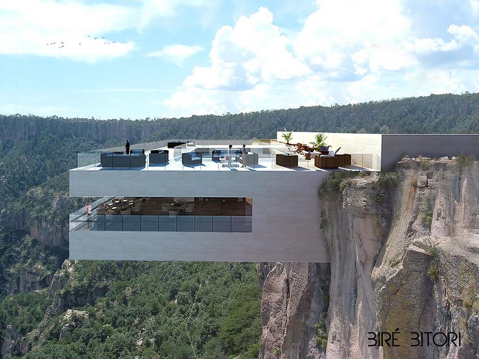 restaurante cañón del cobre - vista frontal