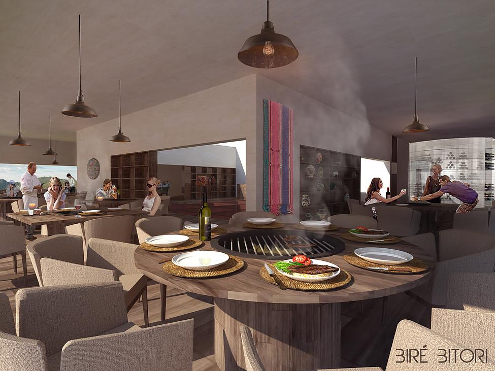 restaurante cañón del cobre - vista interior