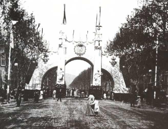 arquitectura efimera - arco de triunfo alfonso XIII