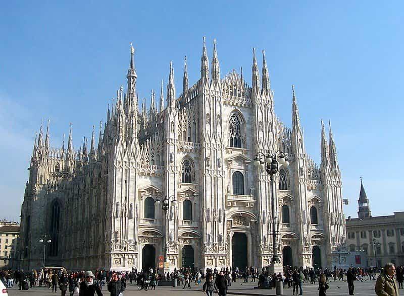 arquitectura gotica - catedral el duomo milan