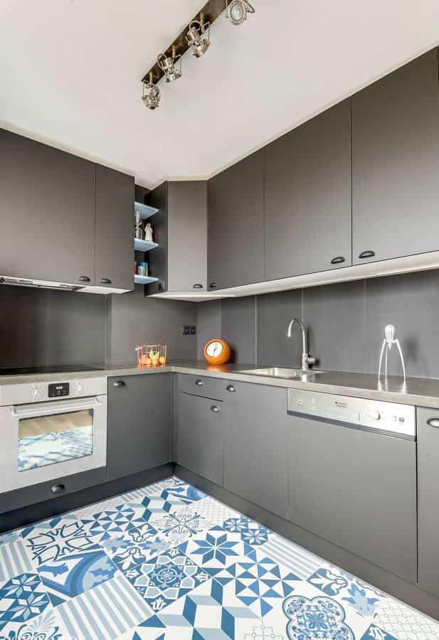 10 sencilla ideas para cambiar la cocina sin tener que - Suelo de cocina ...