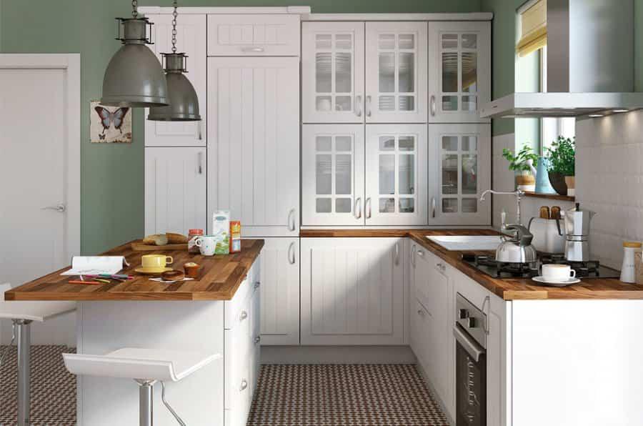 10 sencilla ideas para cambiar la cocina sin tener que - Encimeras de cocina de madera ...
