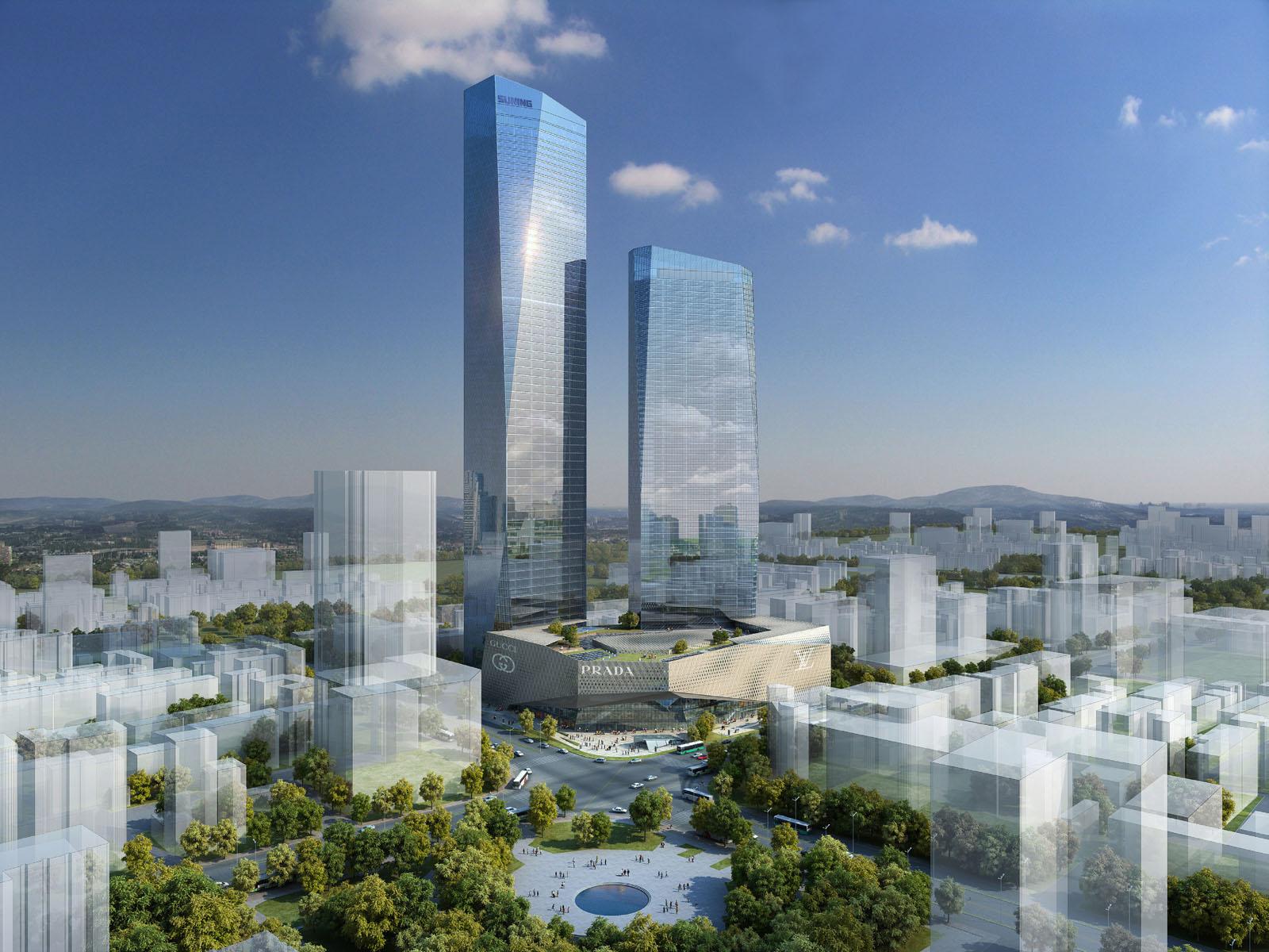 10 edificios más altos 2016 7 suning plaza tower 1