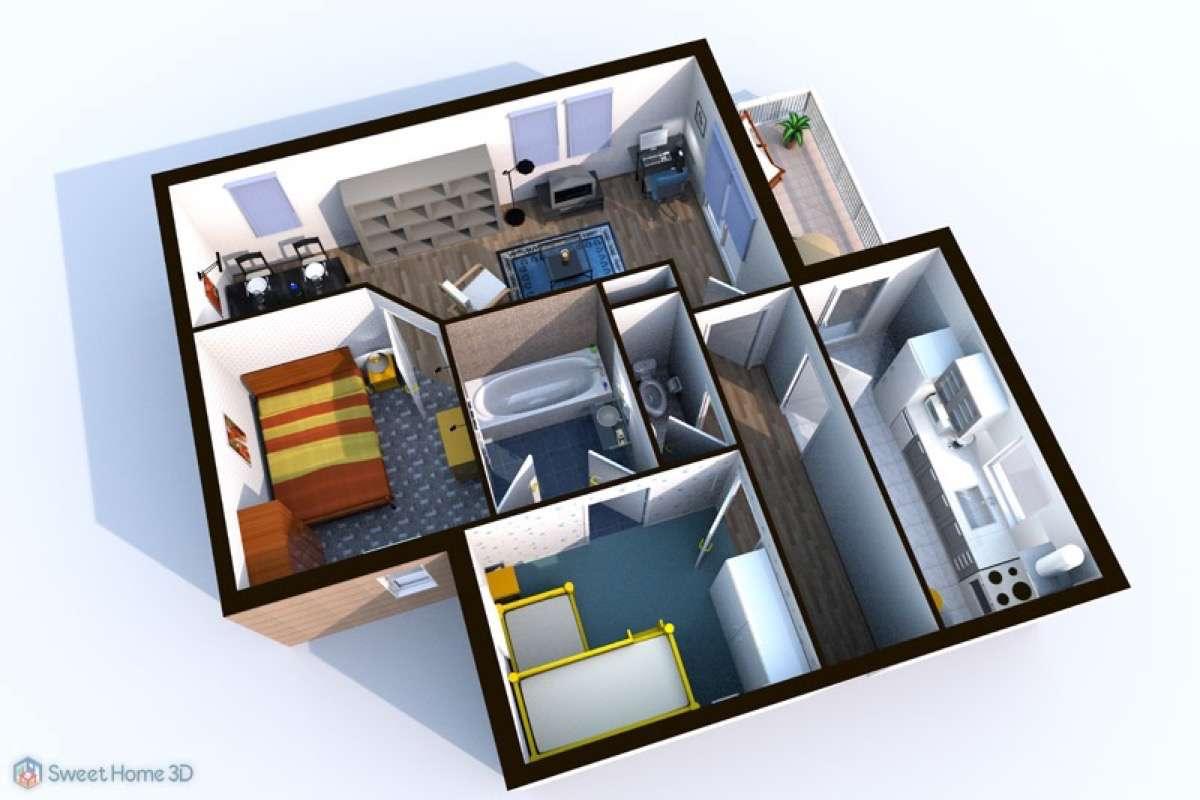 programas de diseño de interiores gratis SweetHome3D