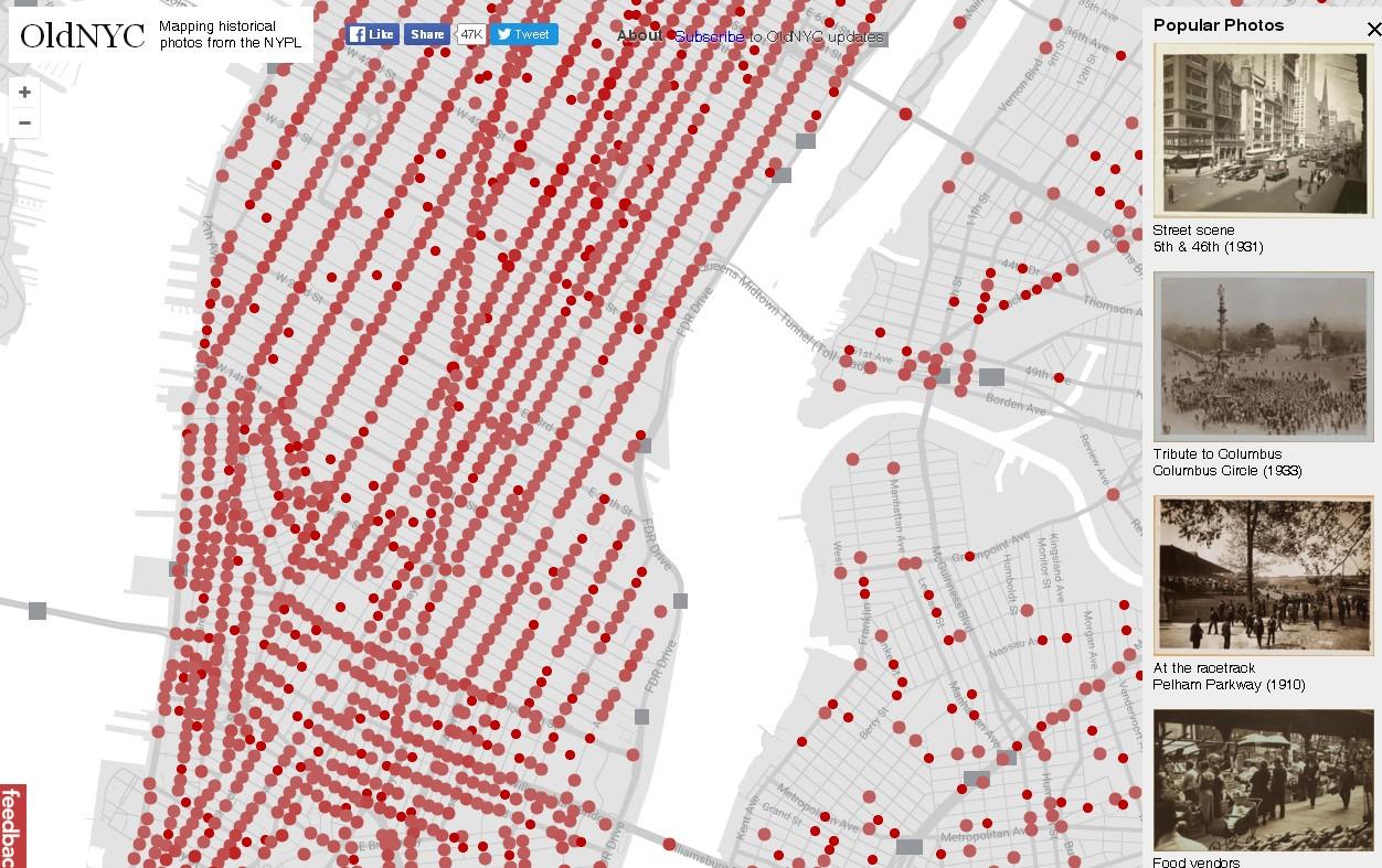 aplicación oldNYC - imagen general