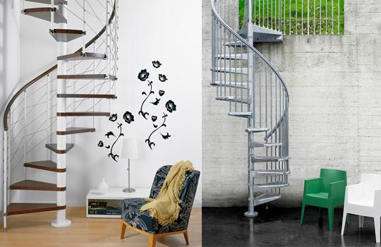diseño y construcción de escaleras - caracol