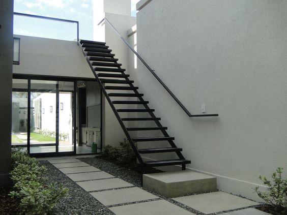 diseño y construcción de escaleras - escalera exterior