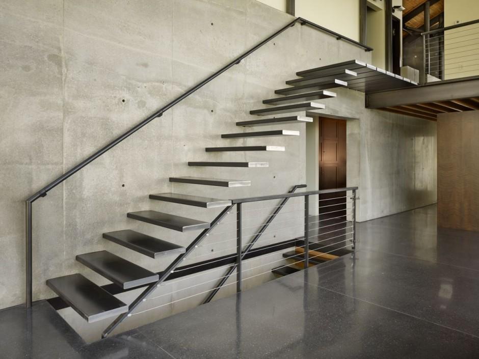 diseño y construcción de escaleras - escalera flotante