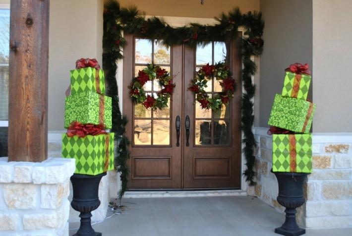 puertas navideñas elegantes 10 - regalos navideños