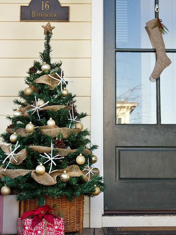 puertas navideñas elegantes 3 - sobriedad