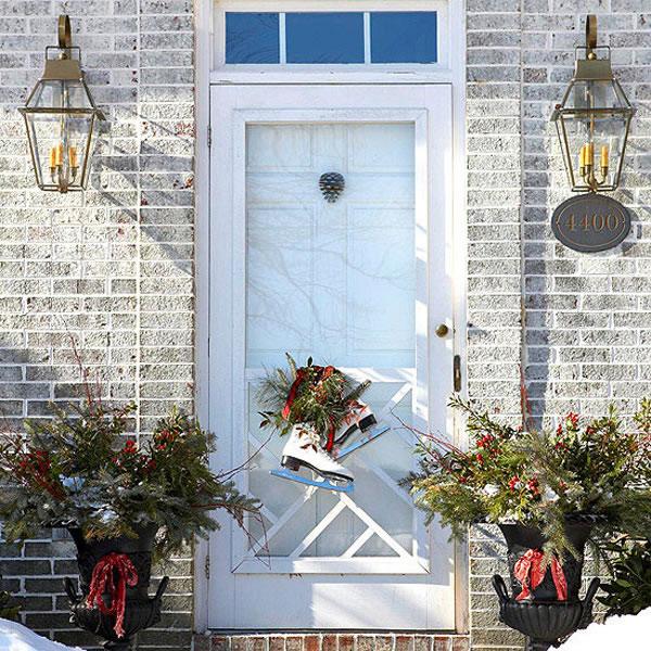 puertas navideñas elegantes 4 - macetas