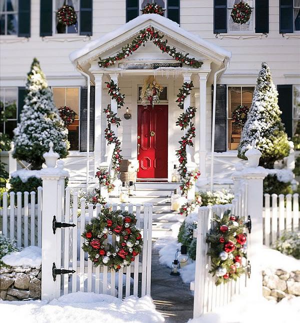 puertas navideñas elegantes 7 - decoración majestuosa