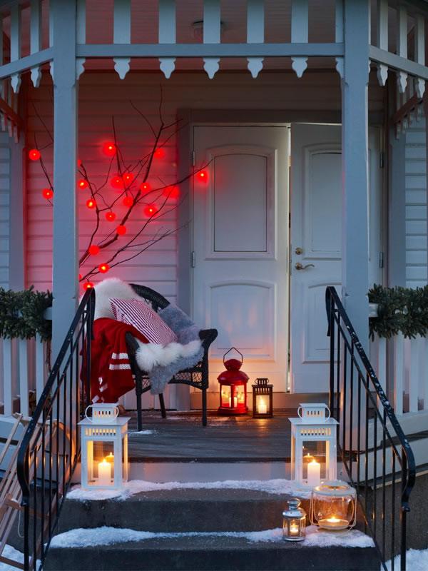 puertas navideñas elegantes 8 - uso de velas