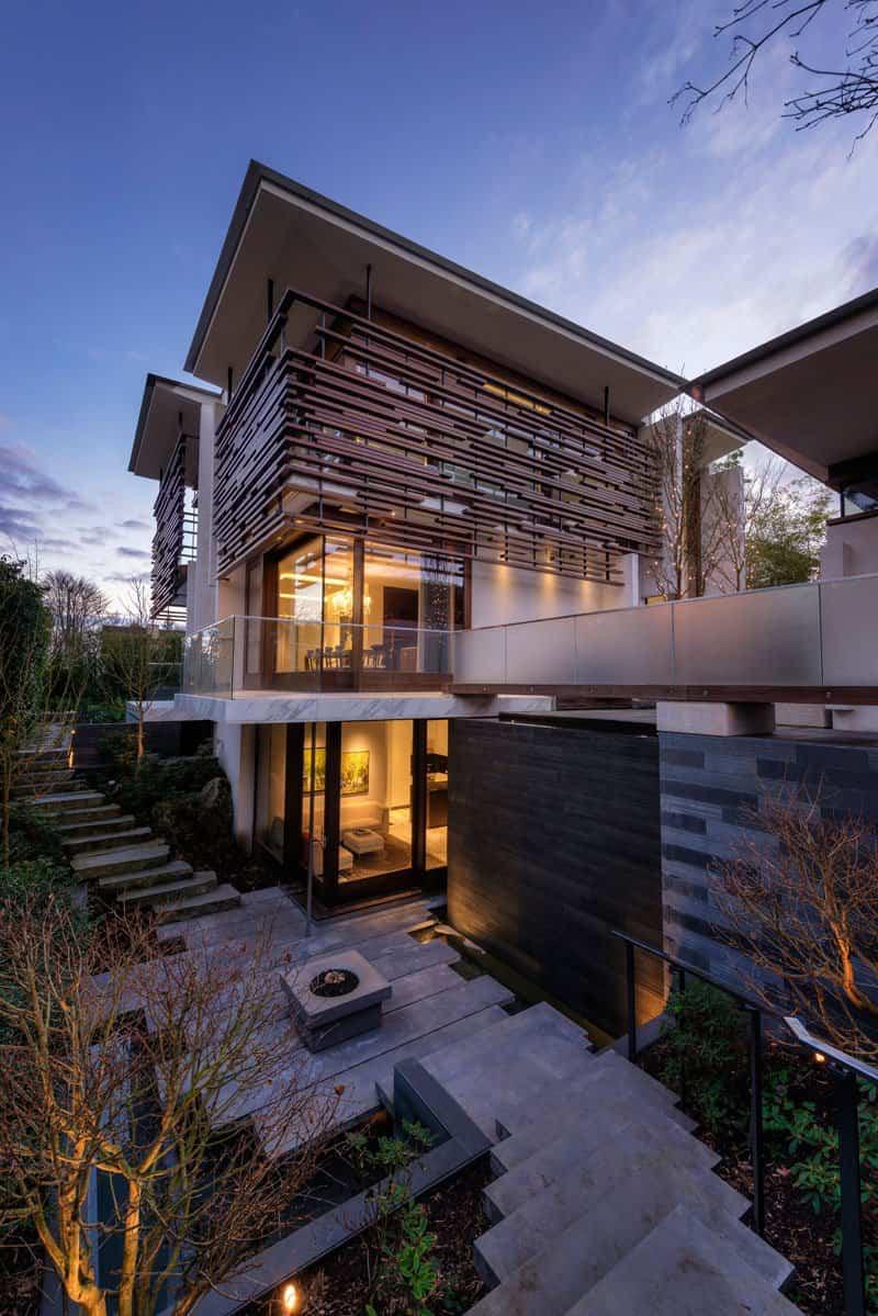 casa contemporanea listones de madera 12