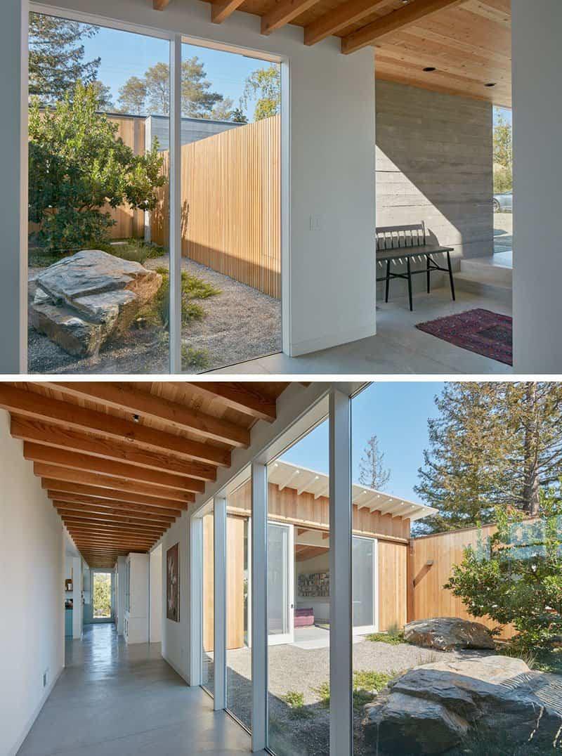 Casa de madera con techo inclinado 4