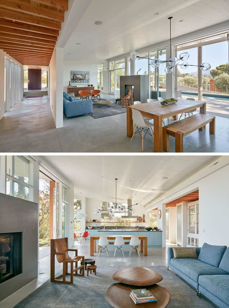 Casa de madera con techo inclinado 5