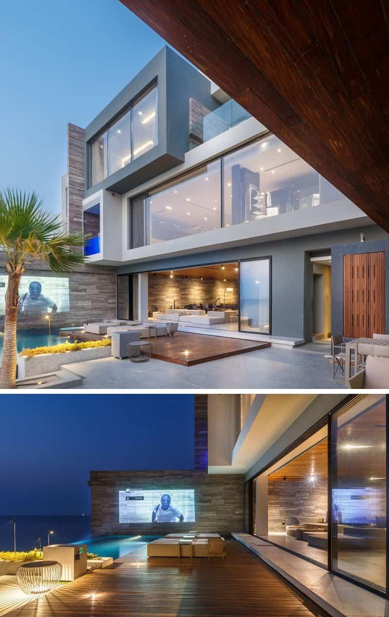 Dise o de una casa moderna con impresionantes vistas al mar for Casa moderna frente al mar