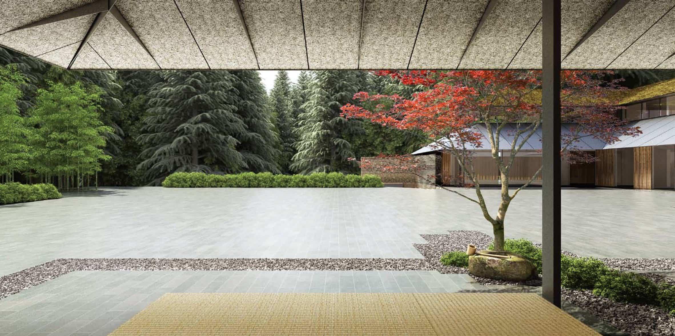 jardín japonés Kengo Kuma 2