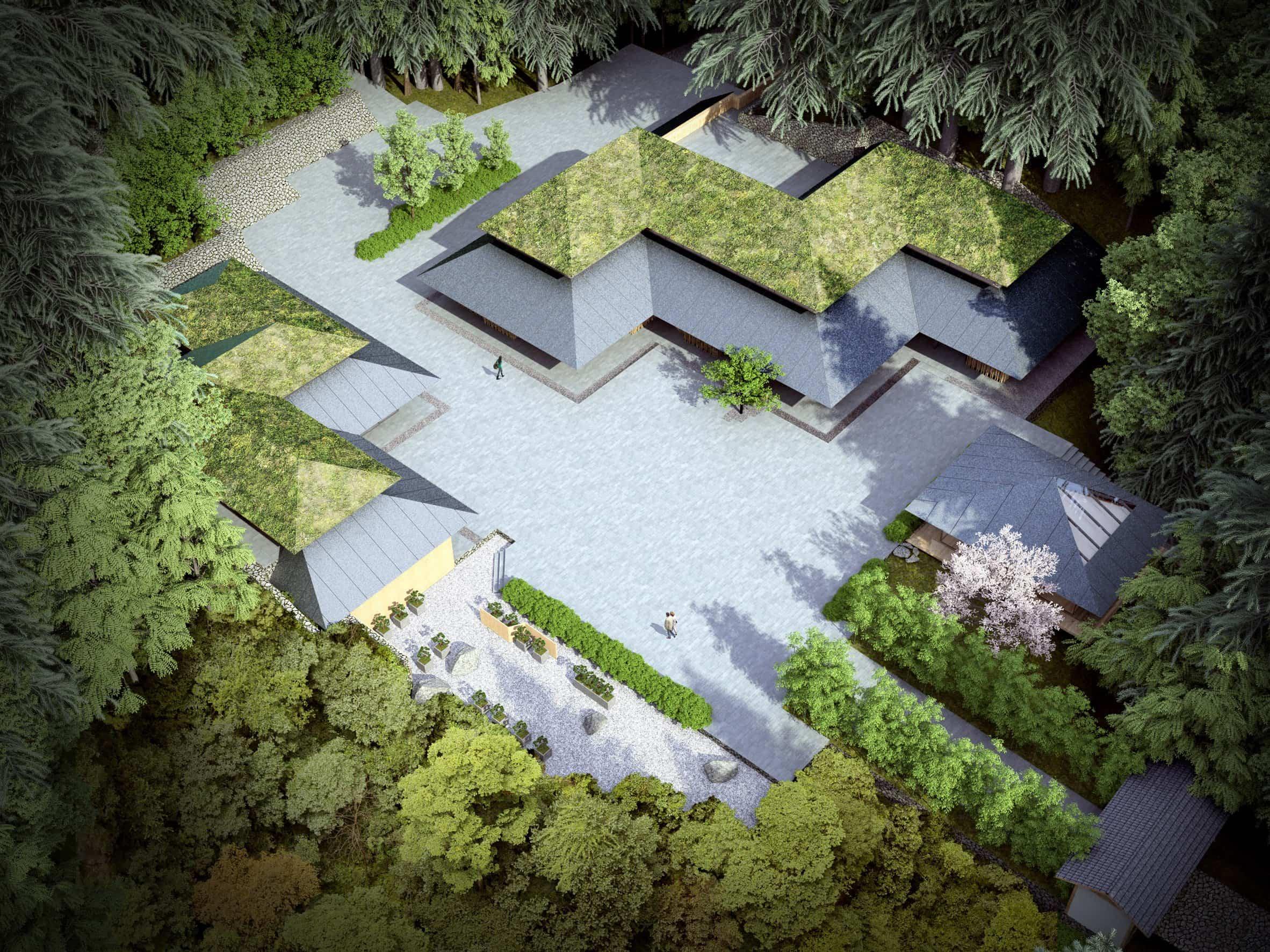 jardín japonés Kengo Kuma 3