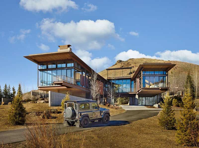 El dise o de esta moderna casa de monta a est lleno de for Archi in casa moderna