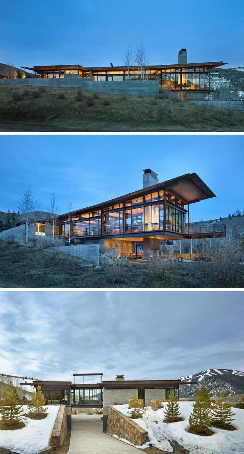 Casa de montaña industrial