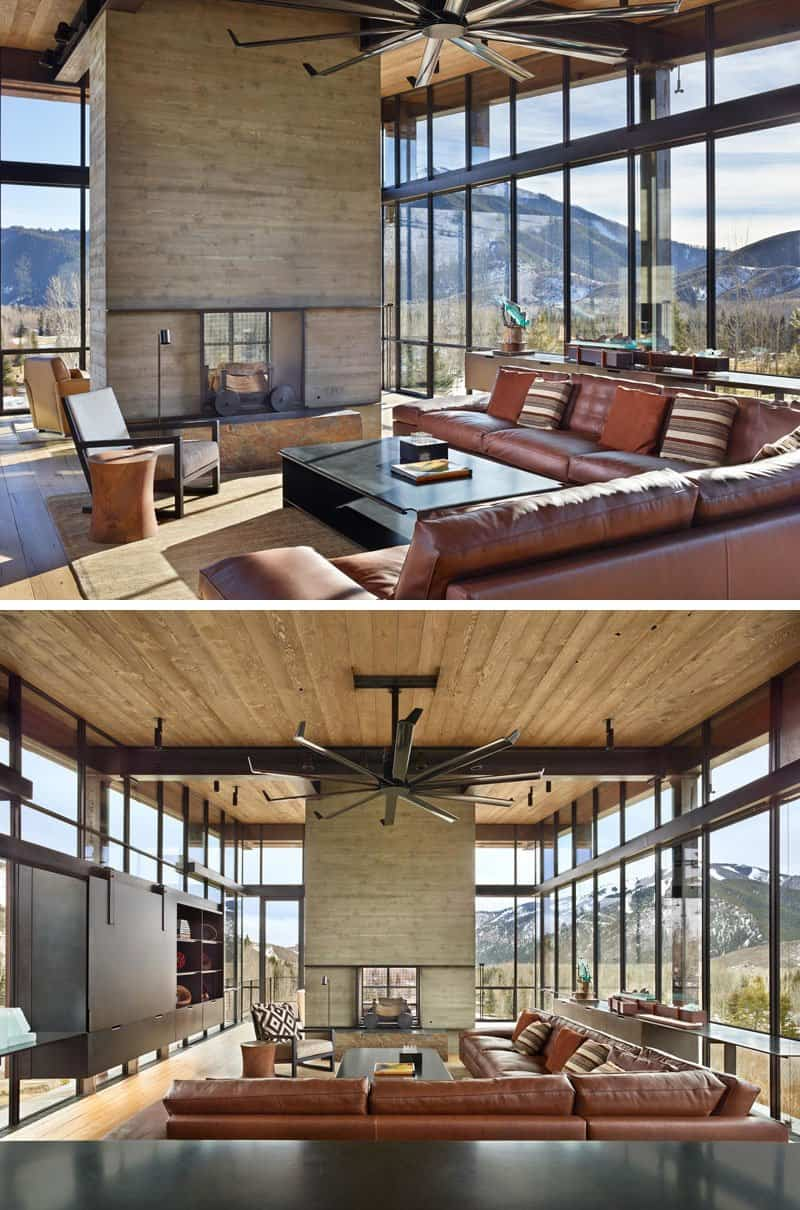 El dise o de esta moderna casa de monta a est lleno de - Apartamentos de montana ...