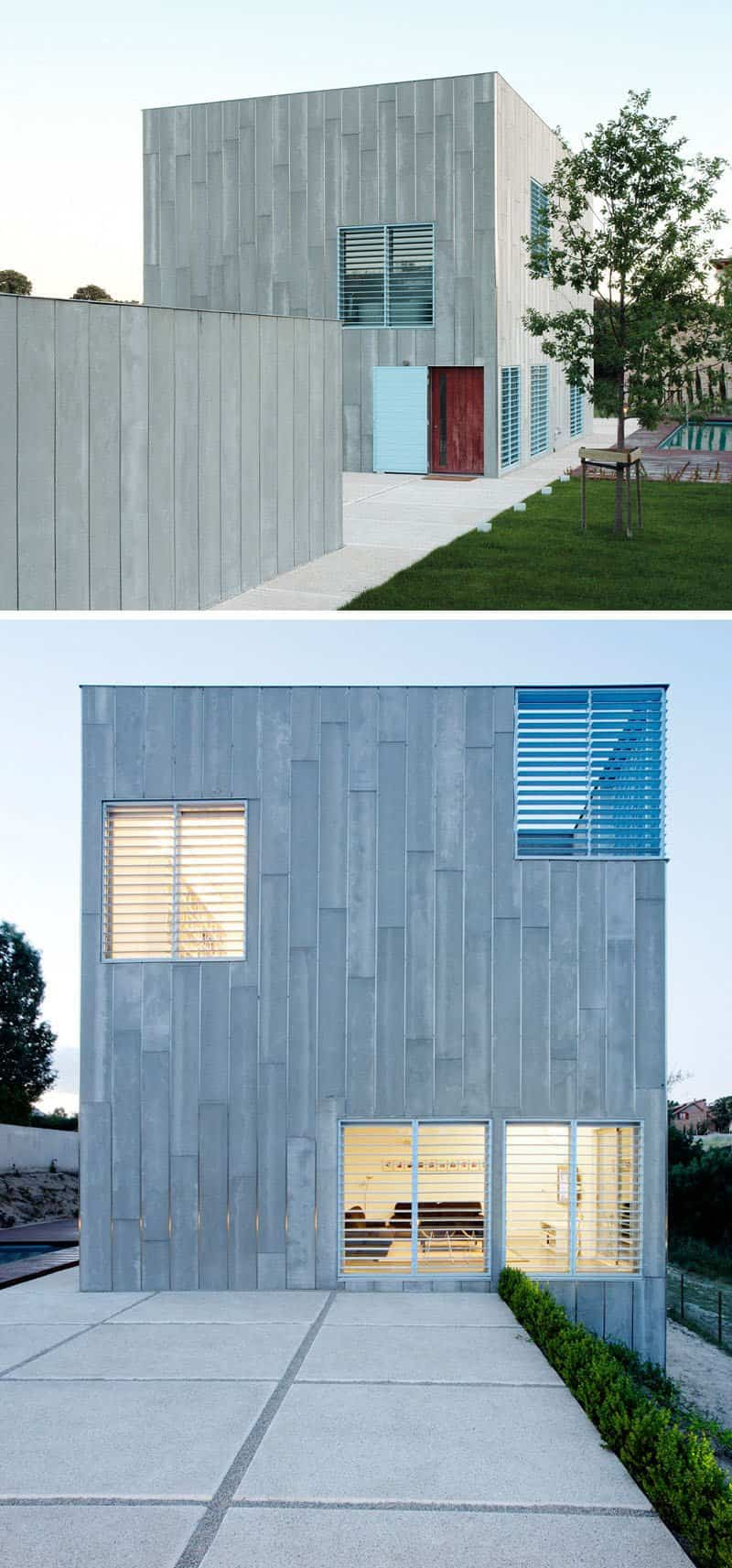 casa moderna con fachada minimalista 10