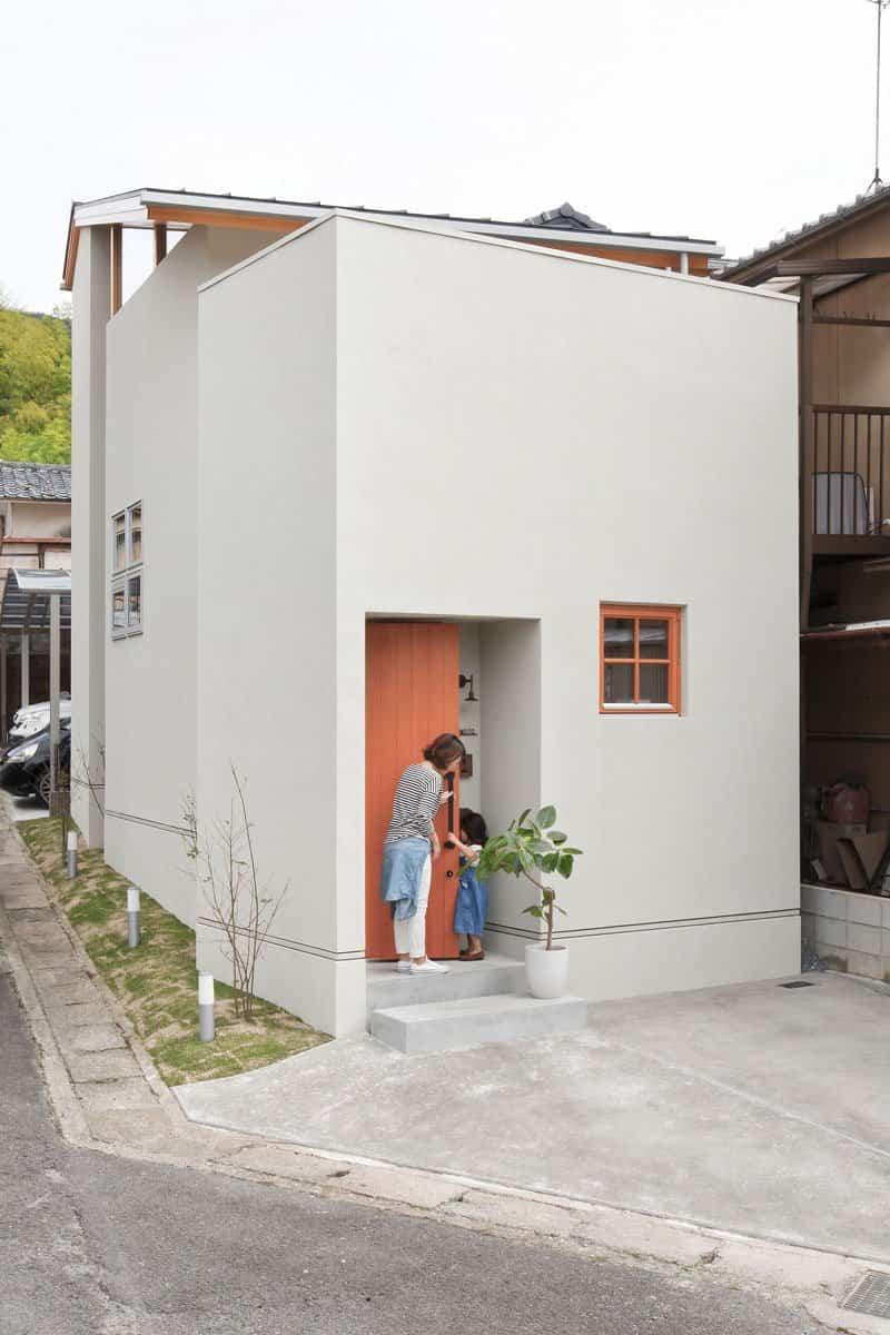 casa moderna con fachada minimalista 12