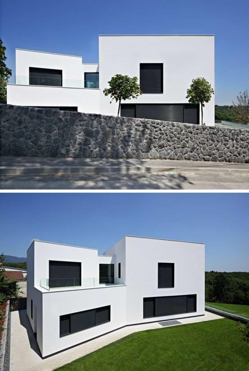 12 casas modernas que cuentan con una fachada minimalista for Casa moderna design
