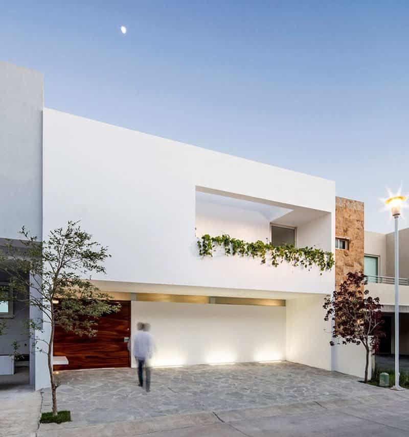 12 casas modernas que cuentan con una fachada minimalista for Minimalist house entrance