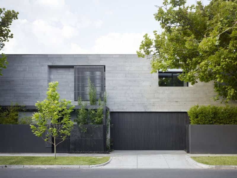 casa moderna con fachada minimalista 8