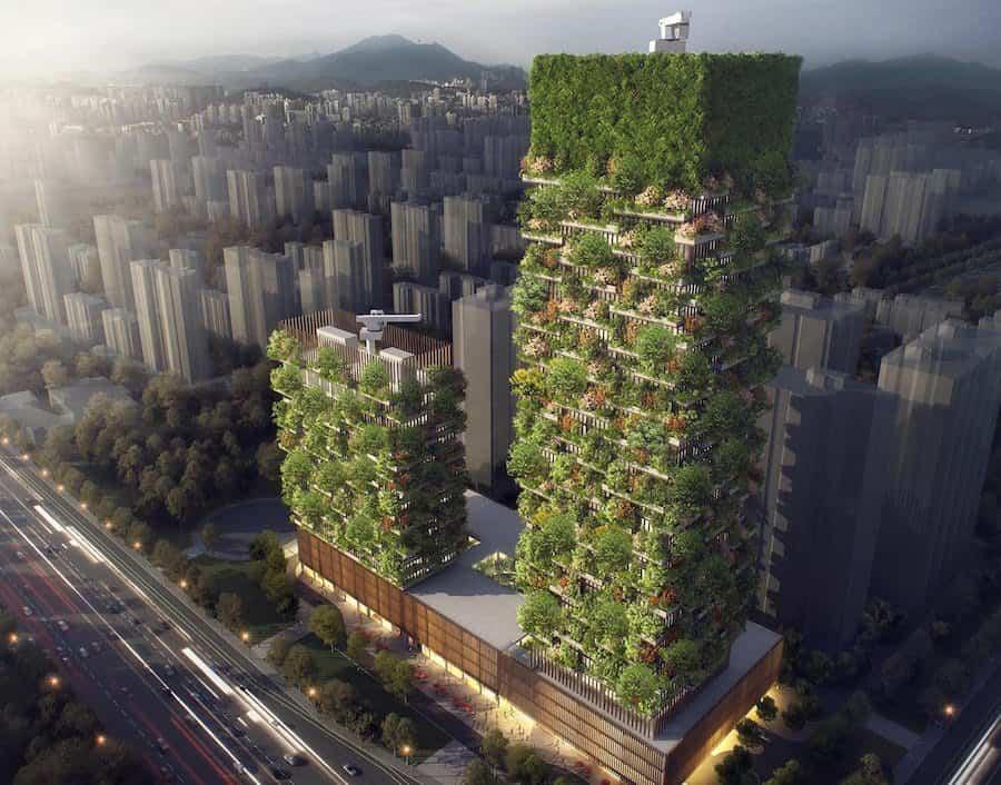 primer bosque vertical en Asia