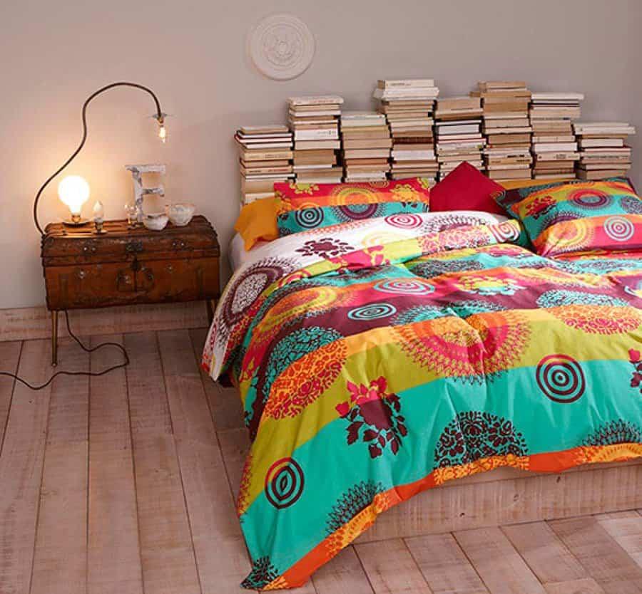 cabeceros de cama 10 libros cerrados