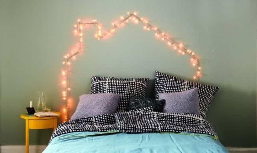 cabeceros de cama 6 guirnalda de luces
