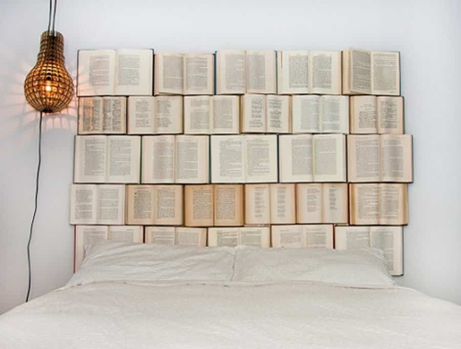 cabeceros de cama 9 reciclar viejos libros